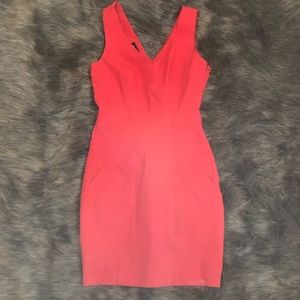Bebe Fully Lined Fitted Red Dress with POCKETS! 2